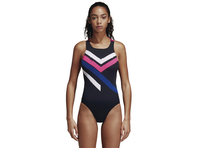 adidas Placed Print Svømmedragt Damer sort/farverig | swim_clothes